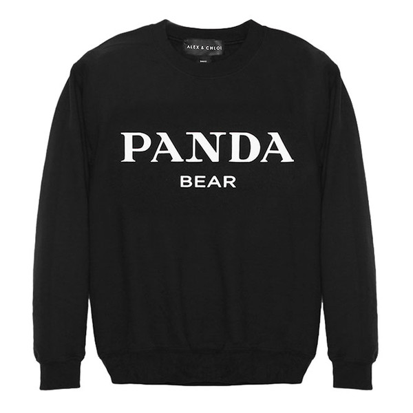 sweater alex and chloe alex & chloe panda panda bear black bw black and white prada miu miu gucci lv louis vuitton hermes chanel sad panda panda beanie panda suit kung fu panda celine givenchy sweatshirt hoodie hoody homies homies new york homies south central homies sweatshirt