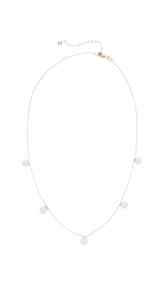 Mateo 14k Five Point Pearl Choker Necklace in gold / yellow