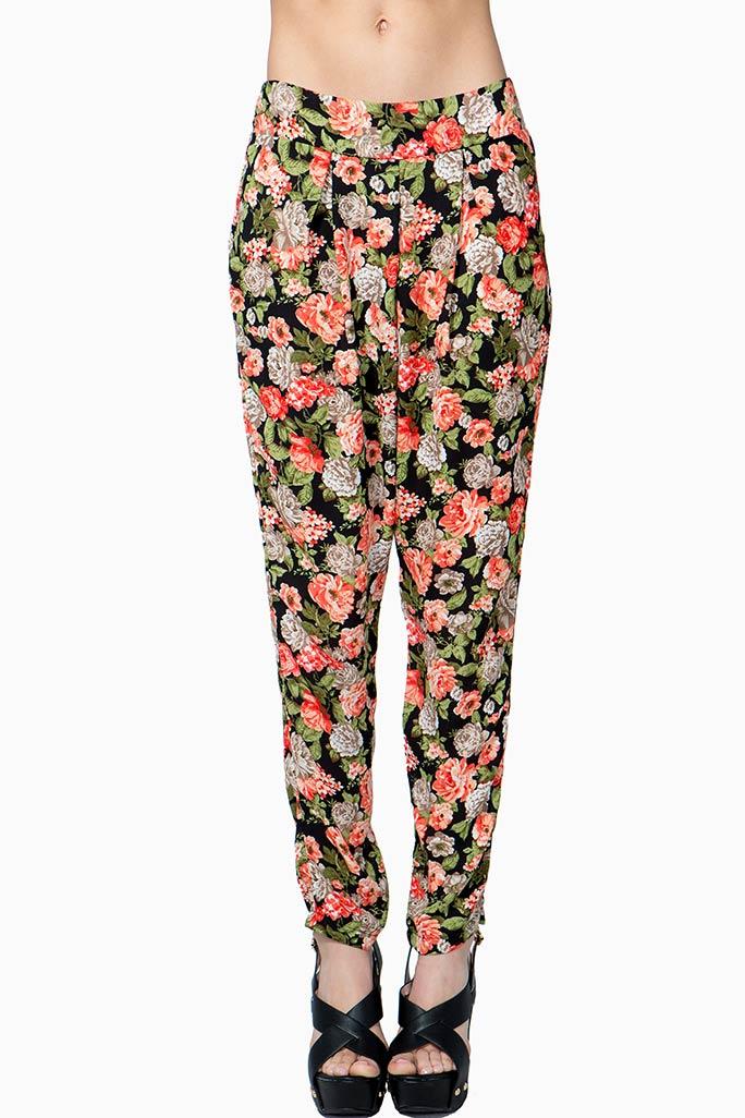 A'GACI Floral Fancy Slouchy Pant  - Slouchy Pants
