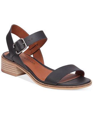 2d9eb5d39e3 Lucky Brand Women's Toni Block-Heel Sandals - Sandals - Shoes - Macy's