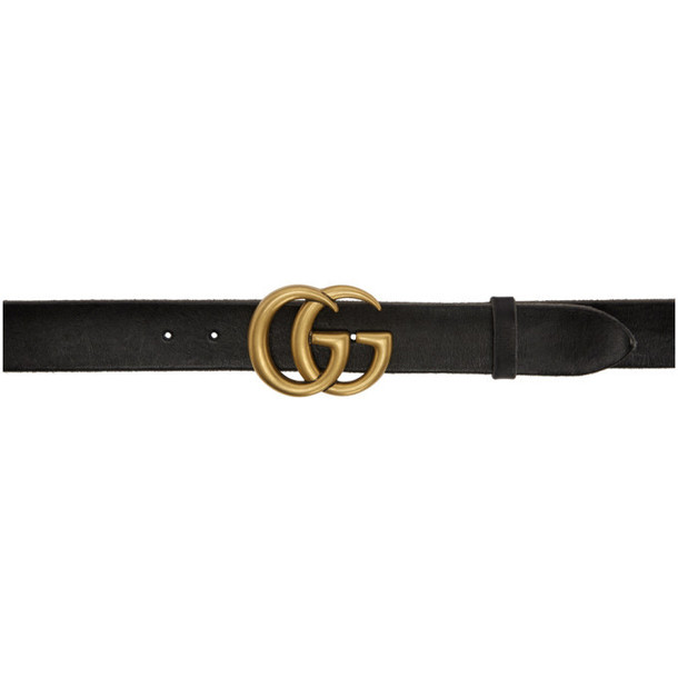 Gucci Black Vintage GG Marmont Belt