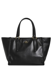 Smooth leather mini crosby tote bag
