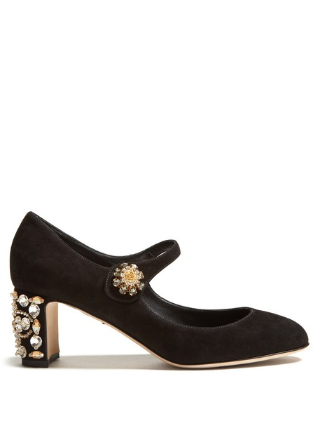 Dolce & Gabbana heel suede pumps pumps suede black shoes