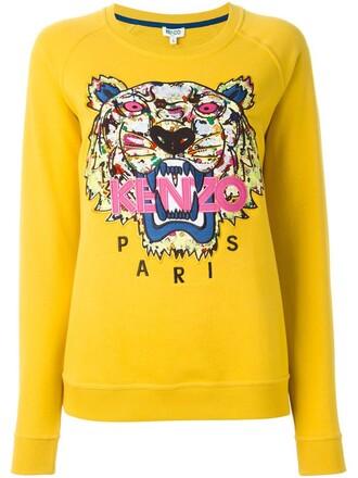 sweatshirt tiger yellow orange sweater