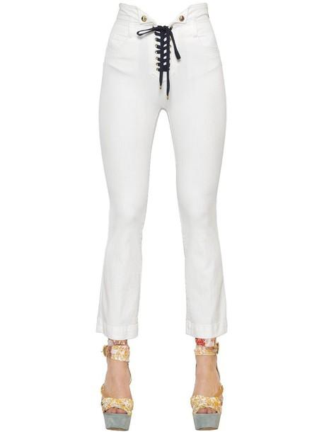 jeans denim lace cotton white