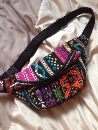 bag bum bag fanny pack urban outfitters aztec festival summer