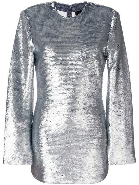 rta dress mini dress mini glitter women cotton silk grey metallic