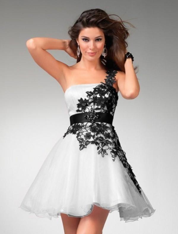 dress pretty amazing fantastic prom dress black lace white dress