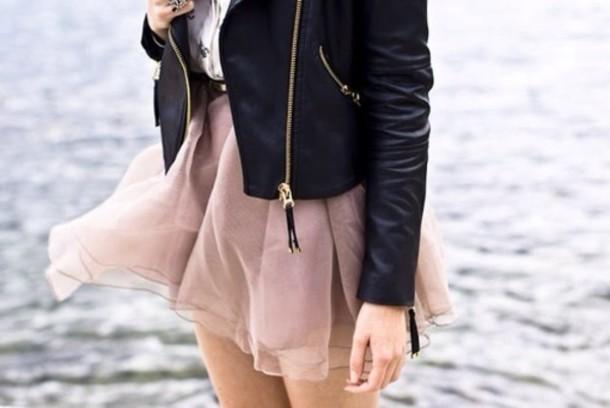 jacket black leather skirt black jacket black leather jacket leather jacket cropped
