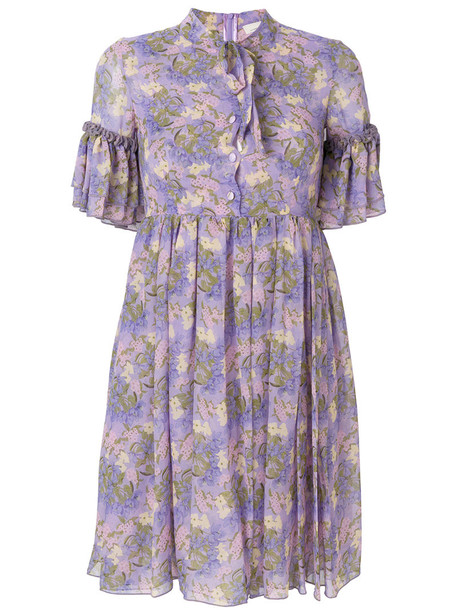 Giuseppe Di Morabito dress shift dress women floral print silk purple pink