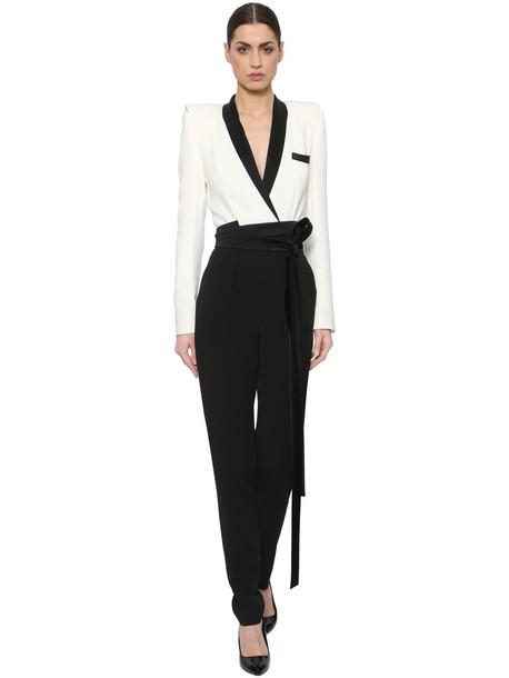 jumpsuit white black