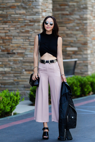 fit fab fun mom blogger top pants jacket shoes belt bag sunglasses jewels dior sunglasses