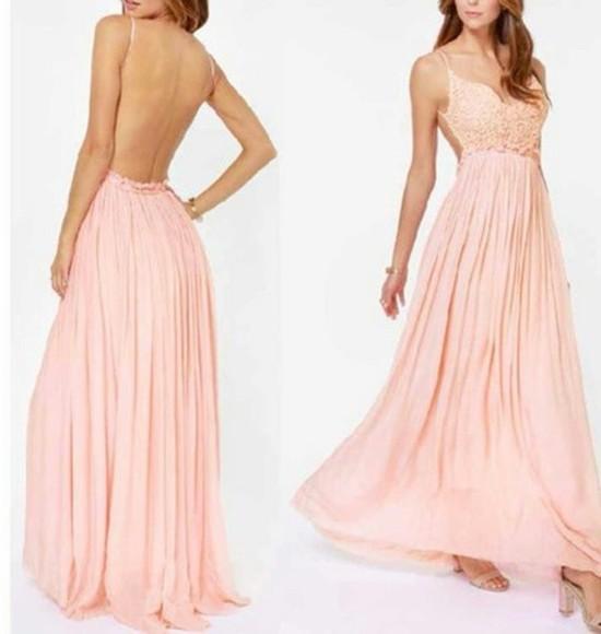 pink dress long dress