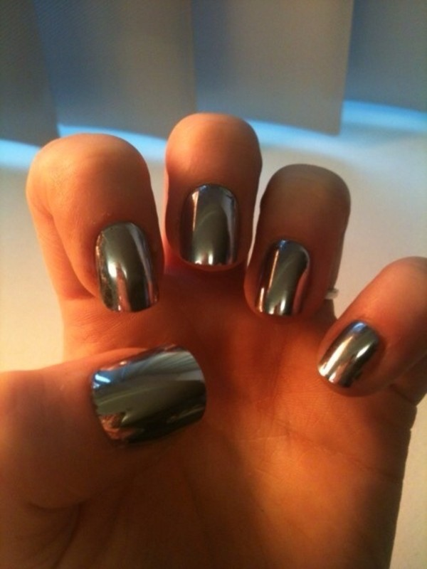 nail polish silver nails mirror nail polish mirror