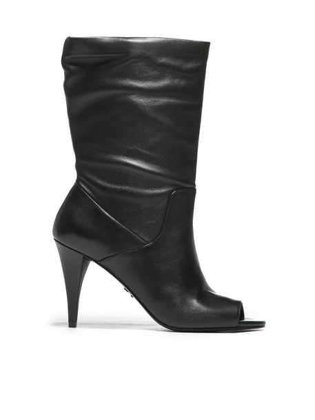 Michael Michael Kors Leather Open Toe Boots in nero