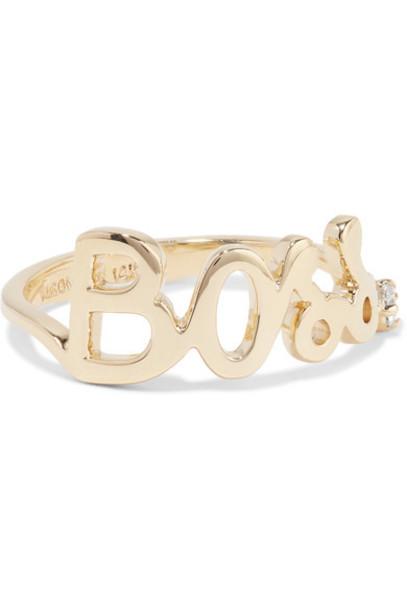 Alison Lou diamond ring boss ring gold jewels
