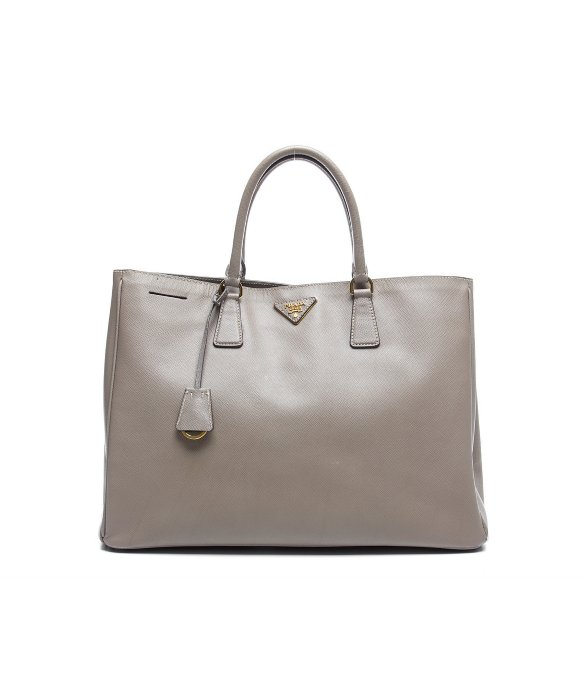 Prada Pre-Owned Prada Grey Saffiano Lux Tote Bag | BLUEFLY up to 70% off designer brands