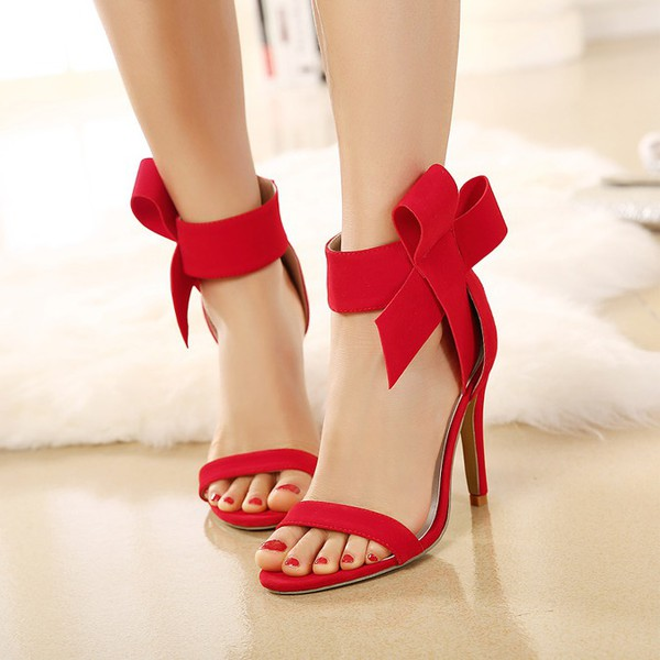 shoes fsj shoes red heels red sandals bow heels wine red heels