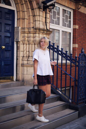 into the fold,blogger,shorts,top,shoes,bag