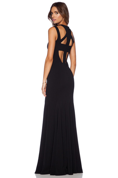 JAY GODFREY gown back black