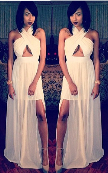 *White Cross Front Maxi – In Your Eyes - Fashion Boutique