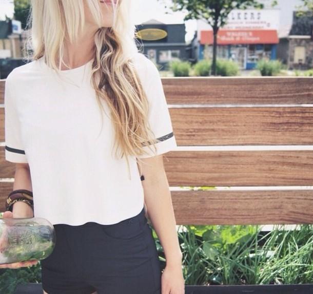 t-shirt shorts shirt