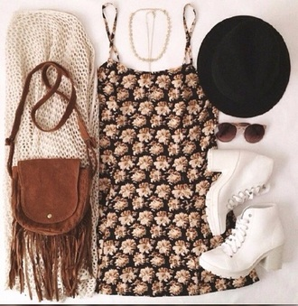 blouse dress jewels hat shoes bag