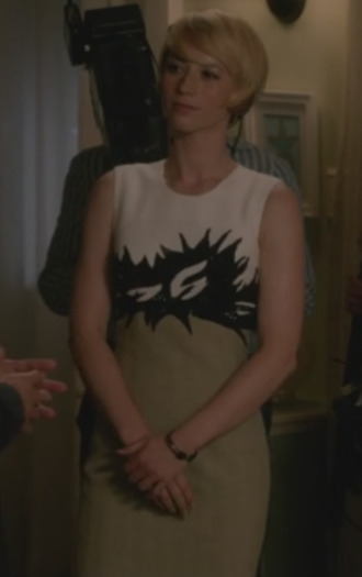 revenge margaux lemarchal karine vanasse embelished dress