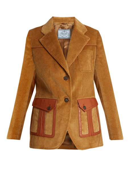 blazer leather light brown jacket