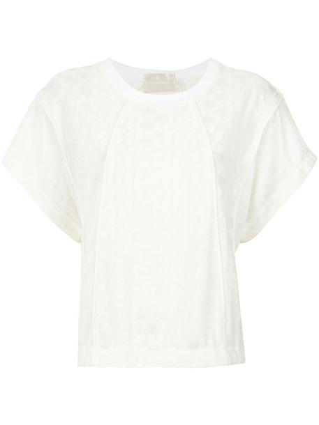 Lilly Sarti blouse women spandex white pattern top