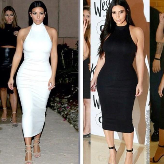 dress dress white dress black dress kim kardashian