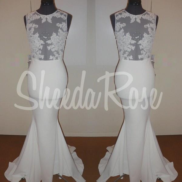 dressmaker lace dress long dress white dress red carpet dress new york city dress