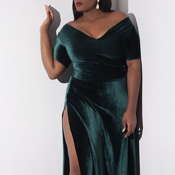 dress, wots-hot-right-now, curvy, plus size, velvet dress, plus size ...