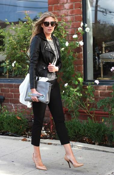 blogger sunglasses devon rachel top jacket bag