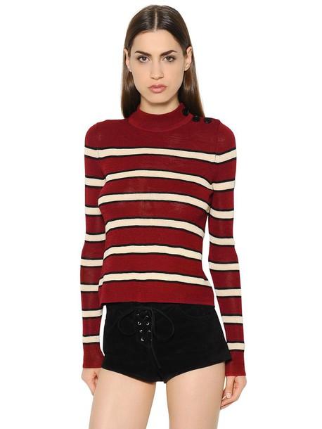Isabel Marant etoile jumper knit beige red sweater