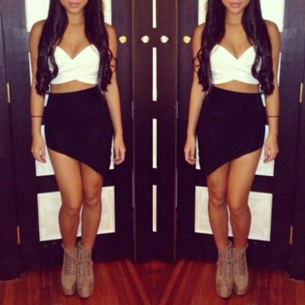 skirt tank top black cut-out sexy dress sexy skirt short