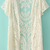 White Short Sleeve Crochet Net Lace Cardigan - Sheinside.com