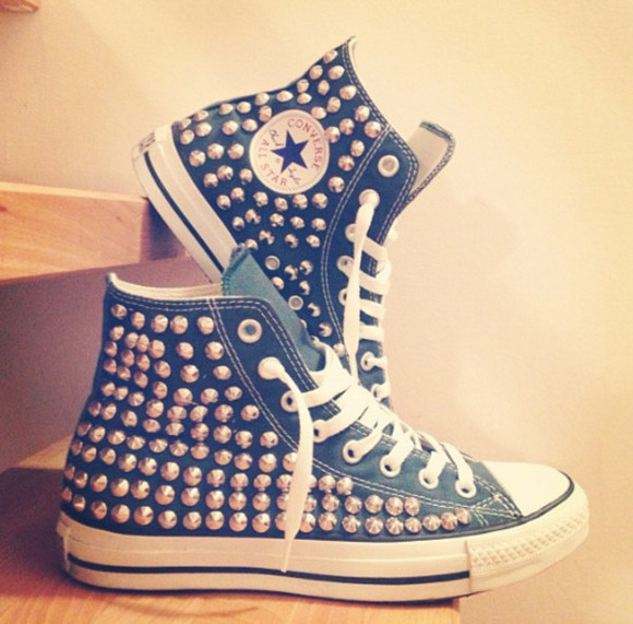 shoes high top sneaker converse converse high tops converse all star studs sneackers