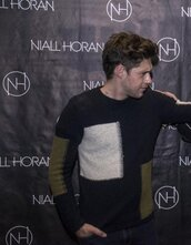 sweater,niall horan sweater,black,green,white,patch