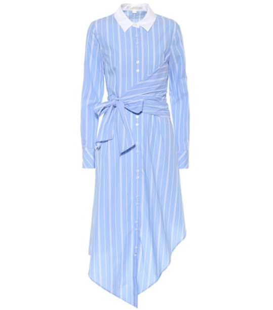Jonathan Simkhai Striped cotton shirt dress in blue