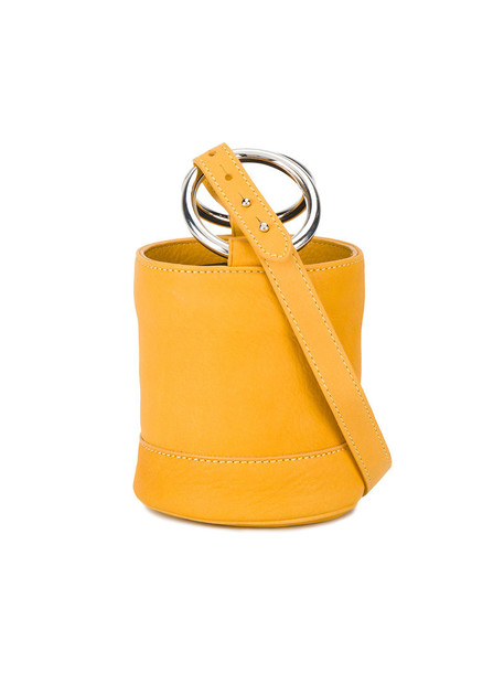 Simon Miller mini women bag bucket bag leather yellow orange