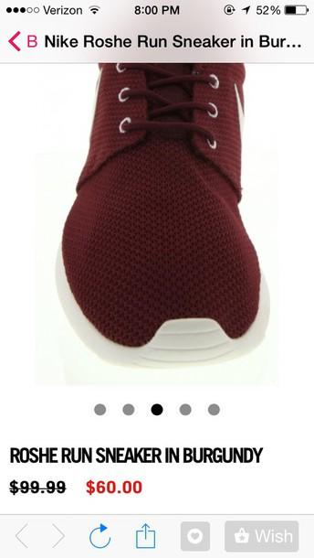 shoes burguny roshes