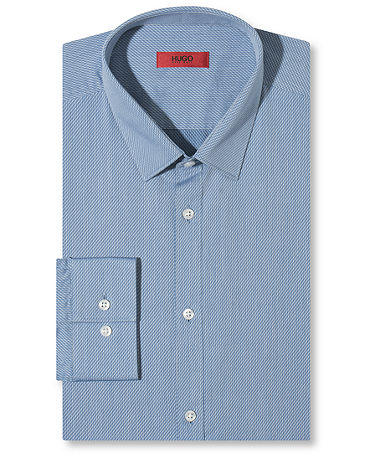 HUGO Blue Diagonal Dress Shirt - Dress Shirts - Men - Macy's