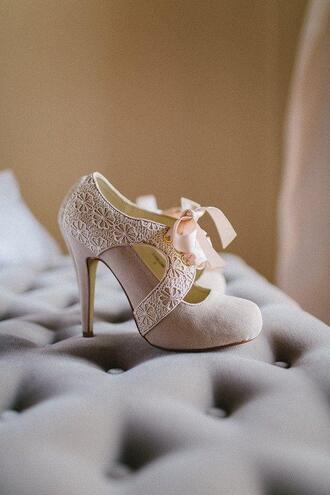 shoes heels dentelle nubuck nude romantic
