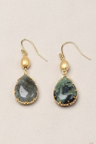 jewels gold stone earrings teardrop earrings