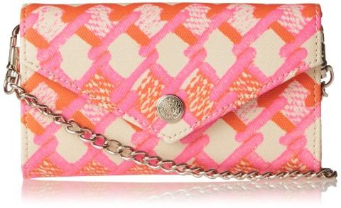 Rebecca Minkoff Mini Wallet On A Chain, Pink/Orange Print | Keep.com