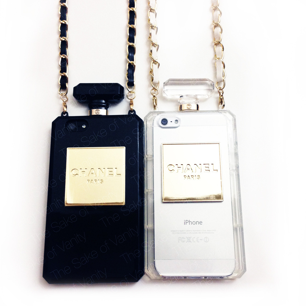 Chanel Inspired Perfume Bottle W Chain Case For Iphone 5