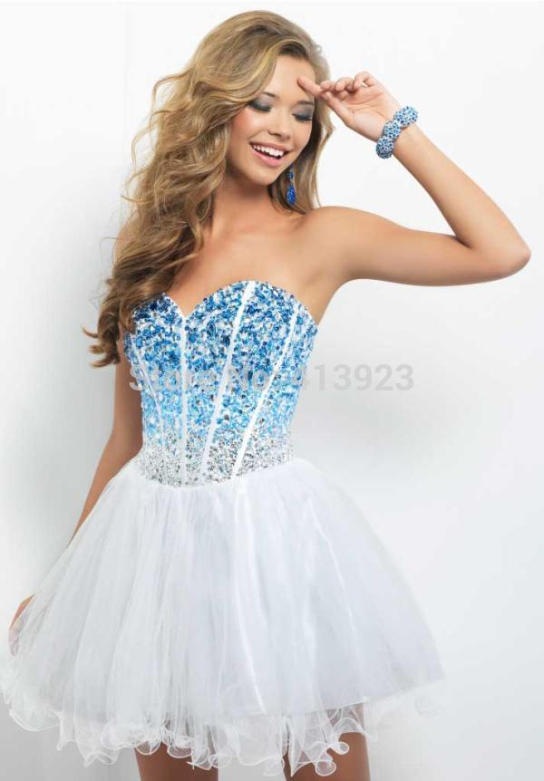 Aliexpress.com : Buy Free Shipping 2014 A line Sweetheart Blue Shining Crystal Short Homecoming Dresses from Reliable crystal mini dress suppliers on Chaozhou City Xin Aojia dress Factory