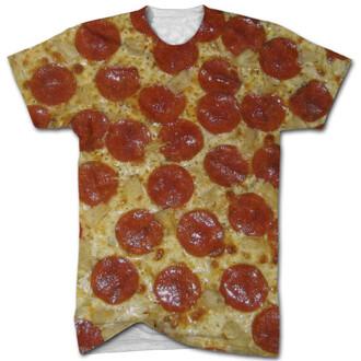 shirt t-shirt pizza printed t-shirt