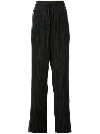 metallic women black pants